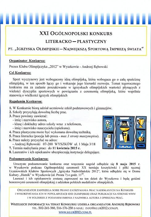 XXI Ogólnopolski Konkurs Literacko - Plastyczny.jpeg