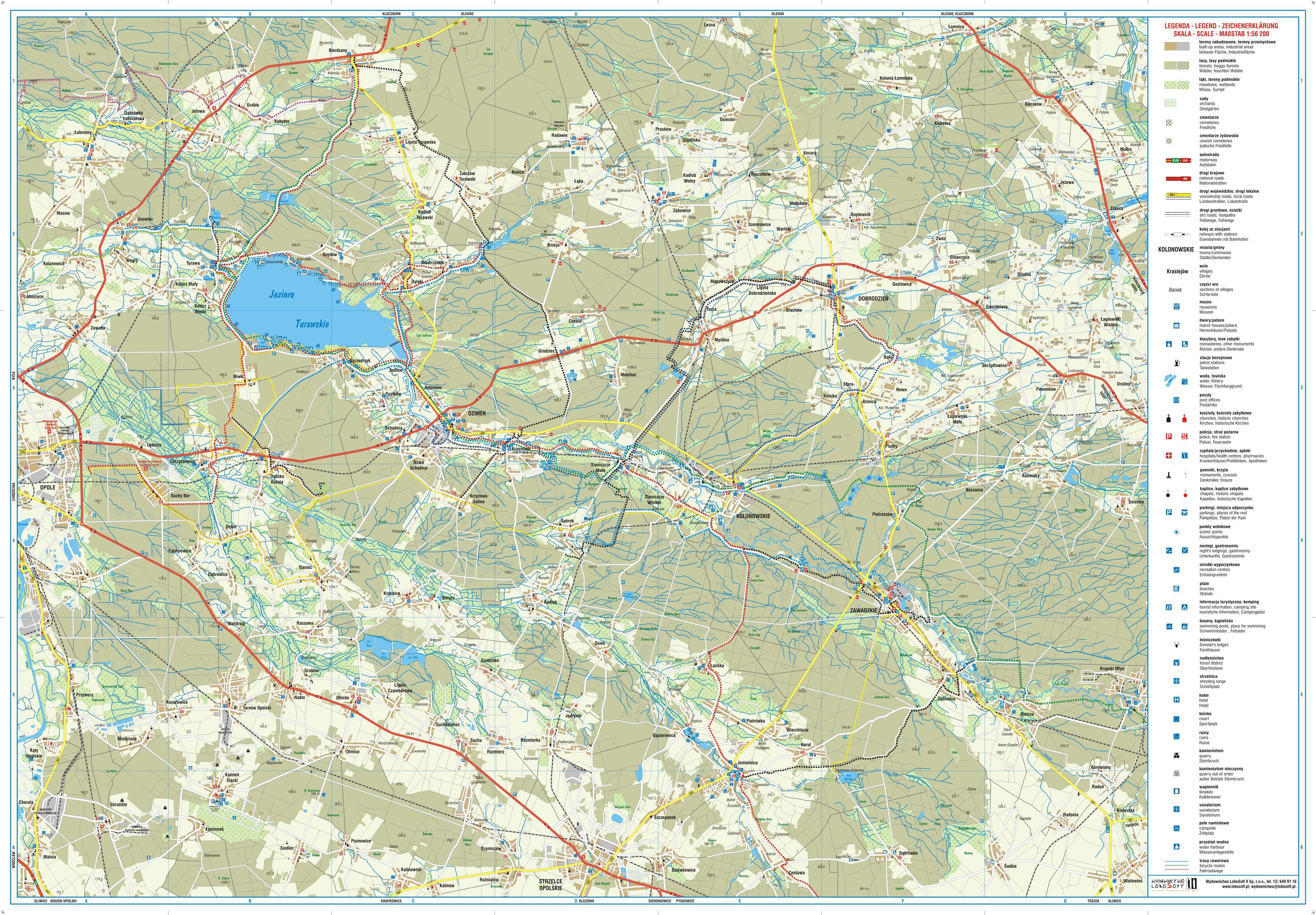 Mapa turystyczna Kolonowskie str. 1 - pobierz w wysokiej rozdzielczości