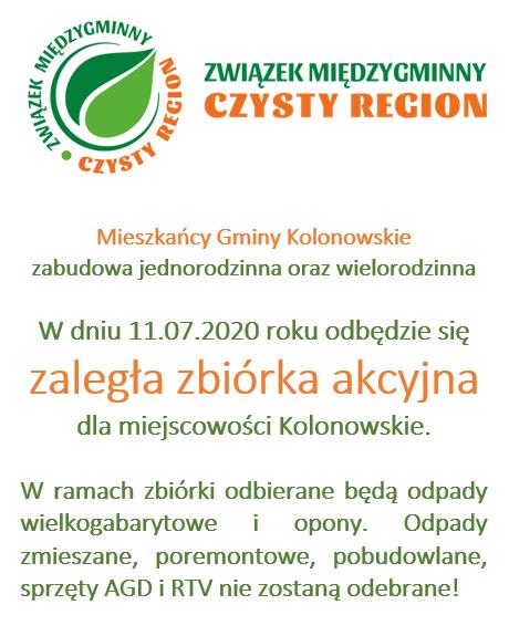 Czysty Region - zaległa zbiórka akcyjna - Kolonowskie.png